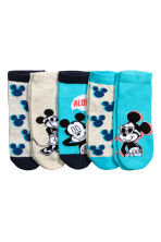 5-pack trainer socks - Turquoise/Mickey Mouse -  | H&M CN 2