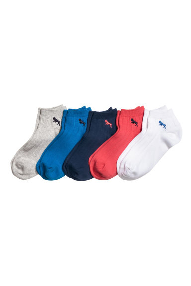 5雙入船型襪 - Cornflower blue - Kids | H&M 1