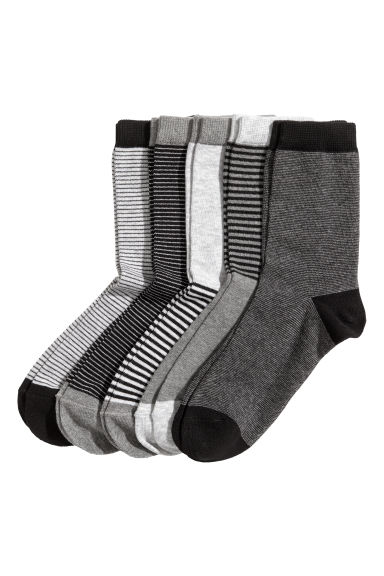 5-pack socks - Dark grey - Kids | H&M 1