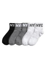5-pack sports socks - Dark grey marl - Kids | H&M 1