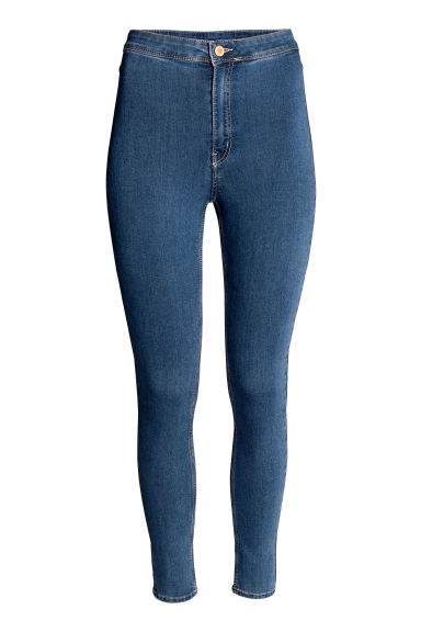 Trousers High waist - Denim blue - Ladies | H&M CN 1
