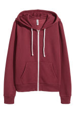 Hooded jacket - Burgundy - Ladies | H&M CN 2