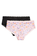 H&M+ 2-pack hipster briefs - Light pink/Floral - Ladies | H&M 2