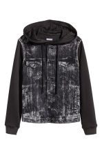 Hooded denim jacket - Black - Men | H&M 2