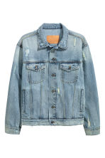Denim jacket - Light denim blue - Men | H&M CN 2