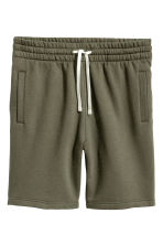 Short van joggingstof - Kakigroen -  | H&M BE 2