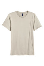 Round-necked T-shirt - Light beige - Men | H&M CN 2