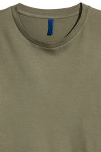 Round-necked T-shirt - Khaki green - Men | H&M CN 2