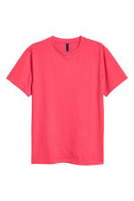 Round-necked T-shirt - Coral pink - Men | H&M CA 2