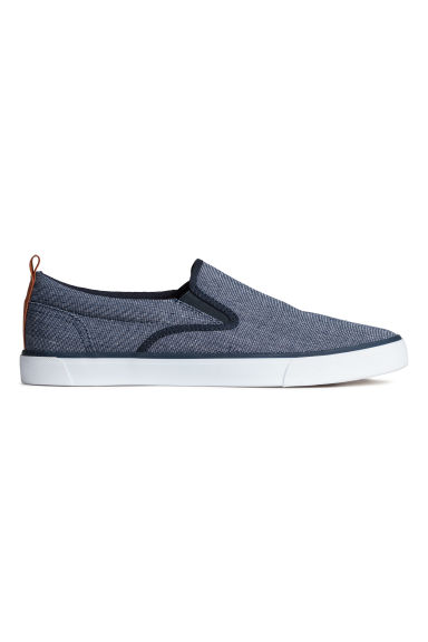Slip-on trainers - Dark blue marl - Men | H&M 1