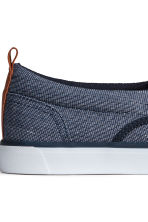 Slip-on trainers - Dark blue marl - Men | H&M 4