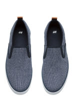 Slip-on trainers - Dark blue marl - Men | H&M 2