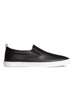 Slip-on trainers - Black - Men | H&M 1