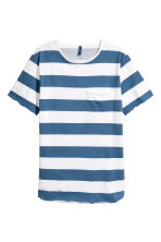 單胸袋T恤 - White/Blue striped - Men | H&M 2