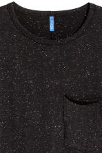 T-shirt with a chest pocket - Black/Neps - Men | H&M 3