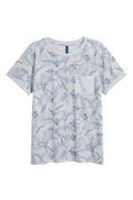 T-shirt with a chest pocket - Grey/Floral - Men | H&M 2