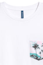 T-shirt with a chest pocket - White - Men | H&M 3