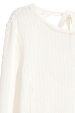 Fine-knit jumper - Natural white - Ladies | H&M CN 3