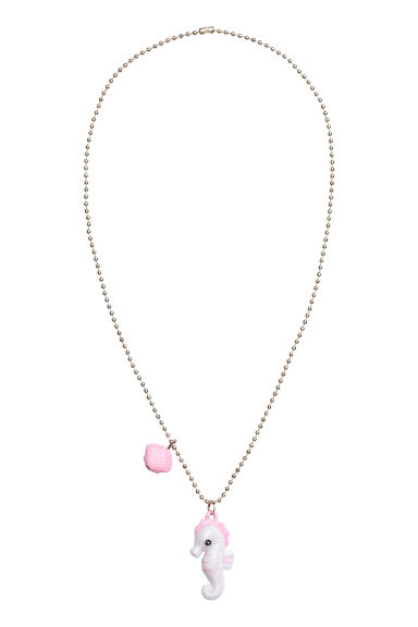 Necklace with pendants - White/Seahorse - Kids | H&M 1