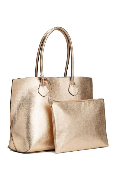 Shopper with a clutch bag - Gold - Ladies | H&M 1