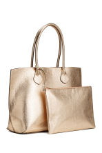 Shopper with a clutch bag - Gold - Ladies | H&M CN 1