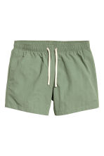 Short swim shorts - Khaki green - Men | H&M CN 2