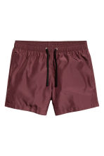 Short swim shorts - Burgundy - Men | H&M CN 2