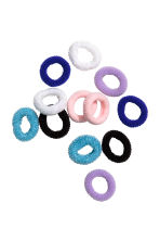 12-pack hair elastics - Blue - Kids | H&M CN 1
