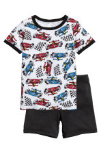 Jersey pyjamas - White/Racing cars - Kids | H&M 1