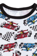 Jersey pyjamas - White/Racing cars - Kids | H&M 3