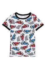 Jersey pyjamas - White/Racing cars - Kids | H&M 2