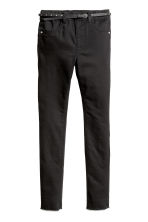 Trousers with a belt - Black - Kids | H&M 2