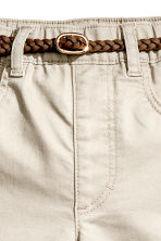 Trousers with a belt - Light beige -  | H&M 5