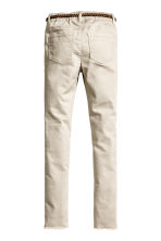 Trousers with a belt - Light beige -  | H&M 3