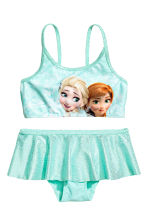 Patterned bikini - Mint green/Frozen - Kids | H&M CN 1
