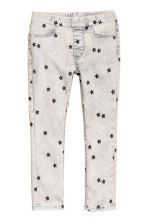 Superstretch denim leggings - Light grey washed out - Kids | H&M 2