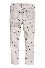 Superstretch denim leggings - Light grey washed out - Kids | H&M 3