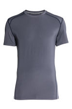 Sports top - Dark grey-blue - Men | H&M 2