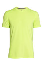 Sports top - Neon yellow - Men | H&M 2