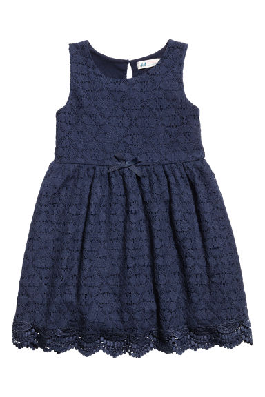 Lace dress - Dark blue - Kids | H&M CN 1