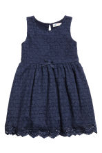 Lace dress - Dark blue - Kids | H&M 1