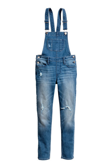 Generous fit Dungarees - Denim blue - Kids | H&M 1