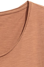 Raw-edge T-shirt - Camel - Men | H&M CN 2