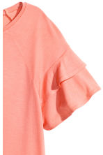 Top with flounced sleeves - Coral -  | H&M 3