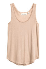Lace-trimmed vest top - Beige - Ladies | H&M CA 2