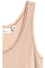 Lace-trimmed vest top - Beige - Ladies | H&M CA 3