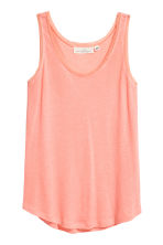 Lace-trimmed vest top - Coral -  | H&M 2