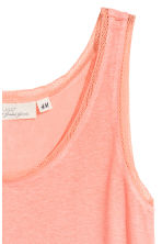 Lace-trimmed vest top - Coral -  | H&M 3