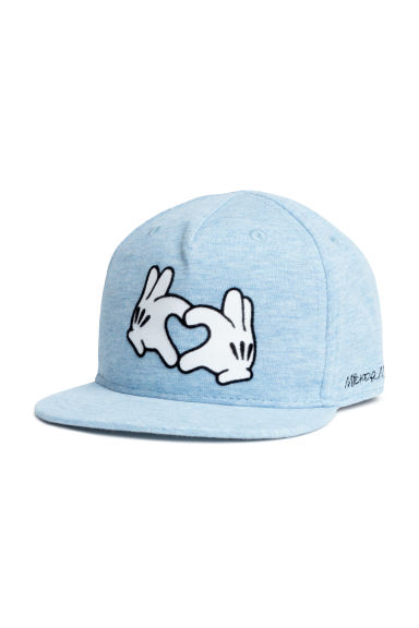 Cotton cap with a motif - Light blue/Mickey Mouse - Kids | H&M 1