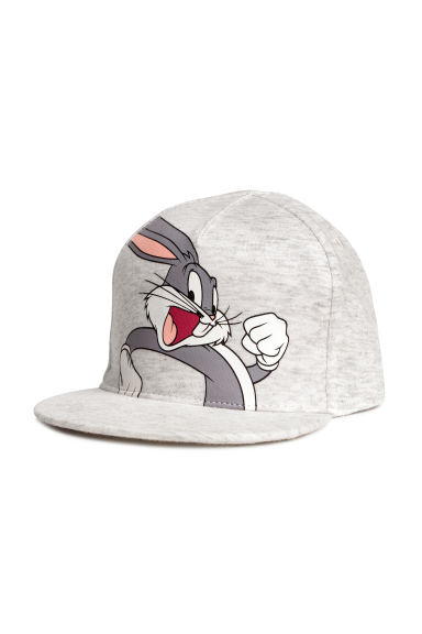 Cotton cap with a motif - Grey/Looney Tunes - Kids | H&M CN 1